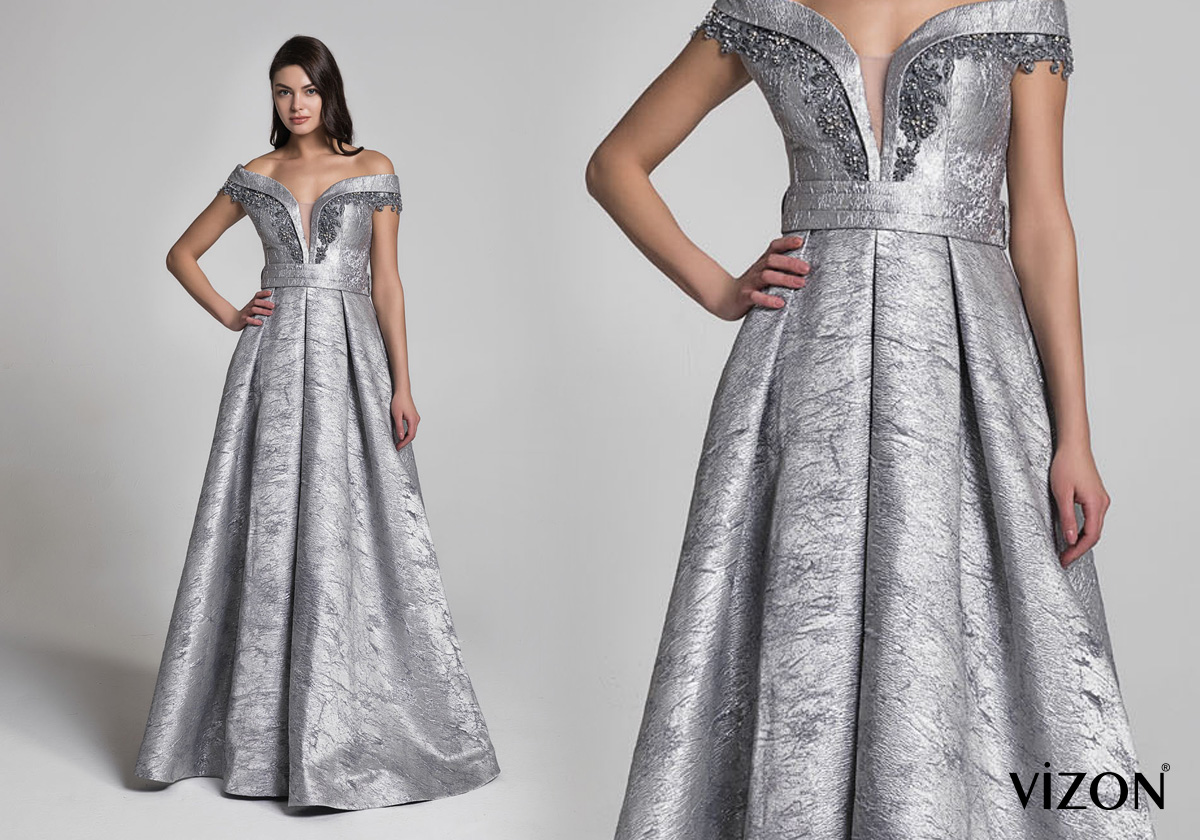 Vizon Abiye Evening Dress
